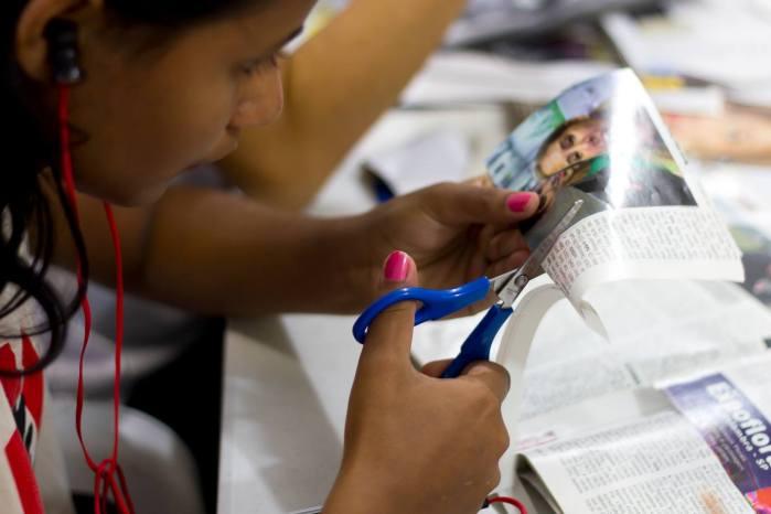 oficina de colagem em Heliópolis/ São Paulo 2014